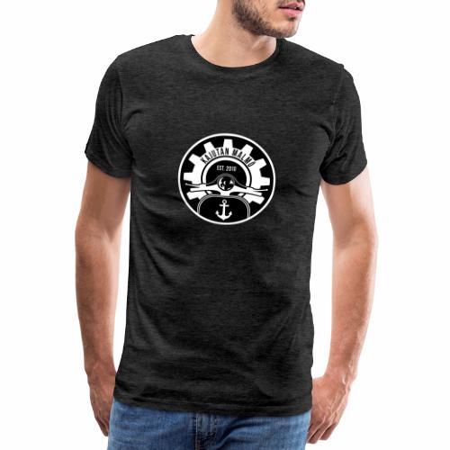 Svart/Vit Kajutan - Premium-T-shirt herr