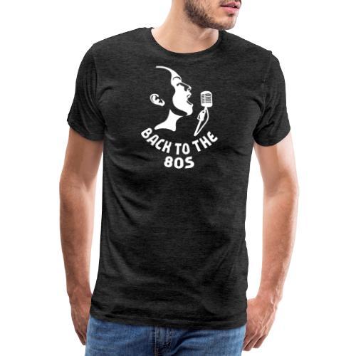 80er Musik T-Shirt ✫ Back to the 80's - Männer Premium T-Shirt