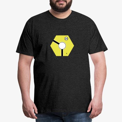 Tile Yellow - Premium-T-shirt herr