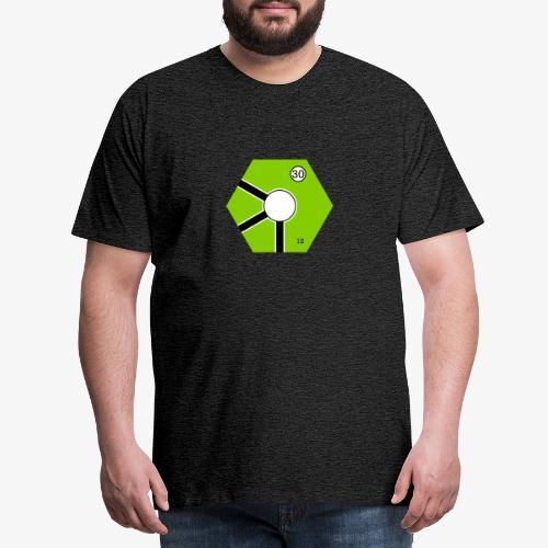Tile Green - Premium-T-shirt herr