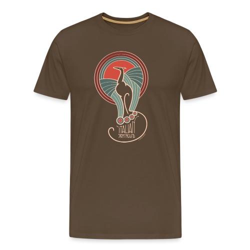 italian sighthound jugendstil 8 - Mannen Premium T-shirt