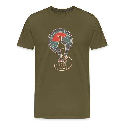 italian greyhound jugendstil 5 - Mannen Premium T-shirt