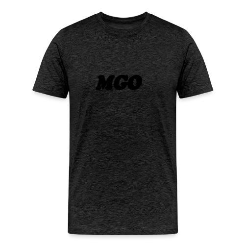 transparent text effect - Premium T-skjorte for menn