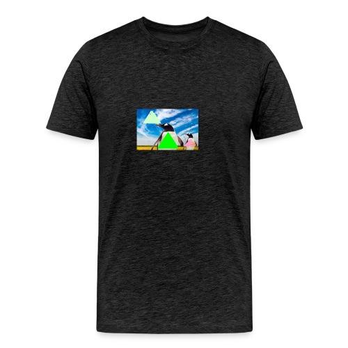ultra_mega_h--ftig_pingvin_med_yolo_man_swag - Premium-T-shirt herr