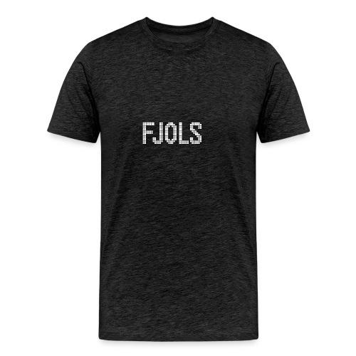 FJOLS med hvid tekst - Herre premium T-shirt
