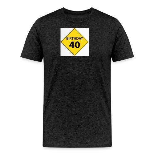 motive shield birthday 40 40 - Premium-T-shirt herr