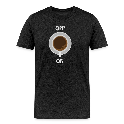 coffe on white cup - Männer Premium T-Shirt
