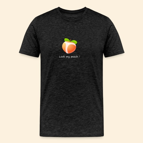 Look my peach in white - Men's Premium T-Shirt