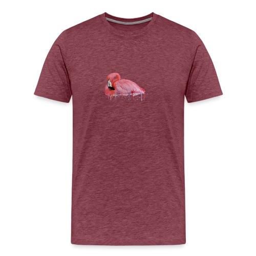 Pink Flamingo Watercolors Nadia Luongo - Maglietta Premium da uomo