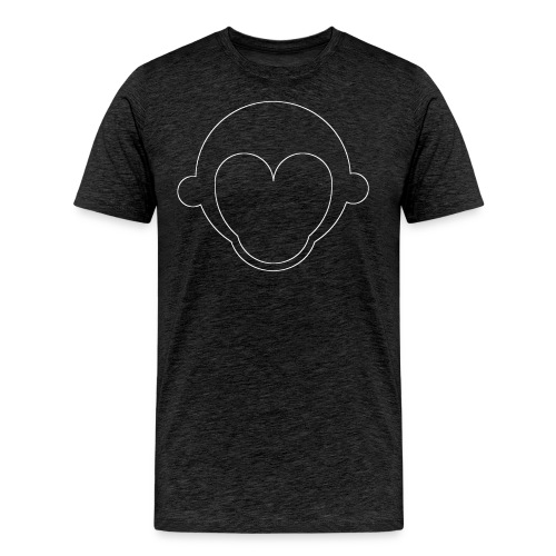 umriss white - Männer Premium T-Shirt