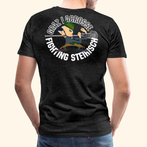 Fighting Steirisch basic white - Männer Premium T-Shirt