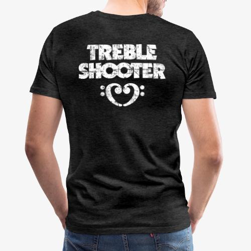 Treble Shooter Bass mit Herz (Vintage/Weiß) - Männer Premium T-Shirt