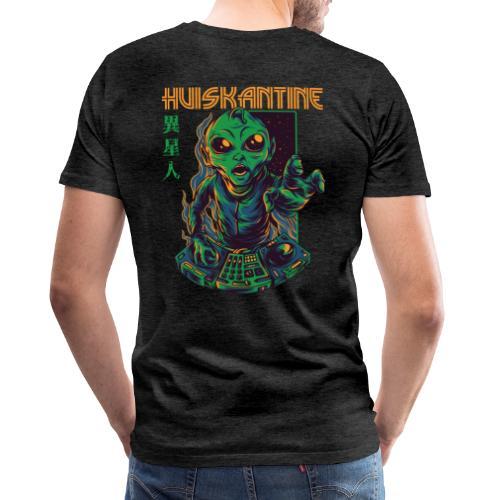 huiskantine alien DJ - Mannen Premium T-shirt