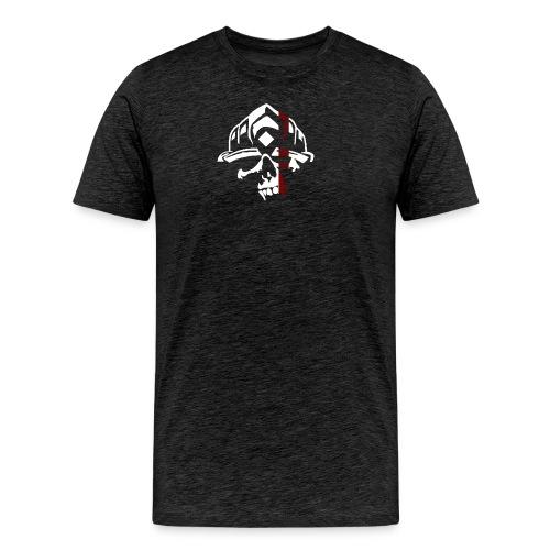FAR Skull Logo white ThinREDLine png - Männer Premium T-Shirt