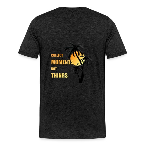collect moments not things - orange-gelb / schwarz - Männer Premium T-Shirt