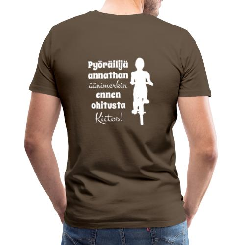 Äänimerkki ennen ohitusta, kiitos - Miesten premium t-paita