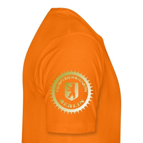 Logo klein ESU gold - Männer Premium T-Shirt