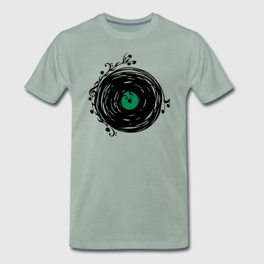Schallplatte, Vinyl, Musik, Noten, Musiknote, Bass - Männer Premium T-Shirt
