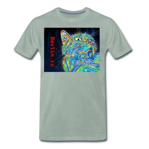 Trippy cat - Men's Premium T-Shirt