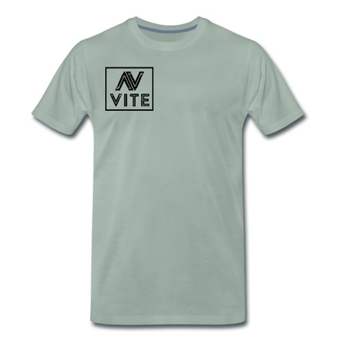 Dark logo transparent background - Herre premium T-shirt