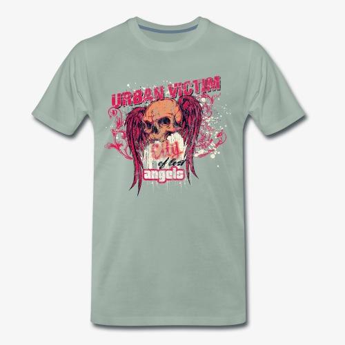 STADT OPFER - Engelsfügel Totenkopf Engel Geschenk - Männer Premium T-Shirt