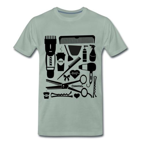 Friseur Frisör Hairstylist Haare Friseurmeister - Männer Premium T-Shirt