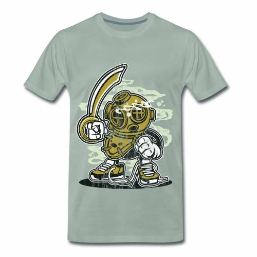 TAUCHER - Lustige Comic Cartoonfigur Geschenk - Männer Premium T-Shirt