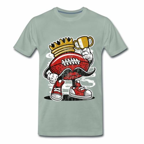 FOOTBALL KÖNIG - American Football Comic Geschenk - Männer Premium T-Shirt