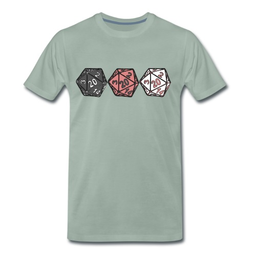 Drei Würfel - Männer Premium T-Shirt