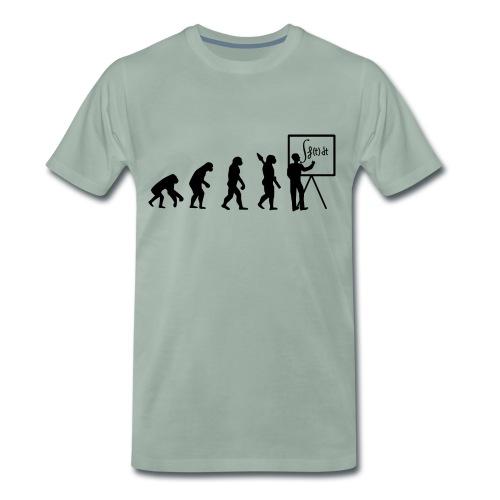 Evolution leads to math - T-shirt Premium Homme