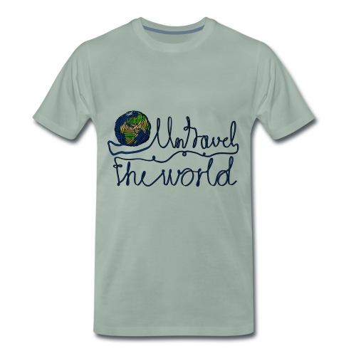 Reise um die Welt Pun Weltreise Roadtrip Urlaub - Männer Premium T-Shirt