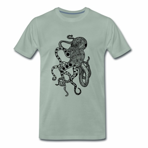 Zentangle Squid - Men's Premium T-Shirt