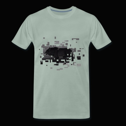 Böser großer Wolf Toveron - Männer Premium T-Shirt
