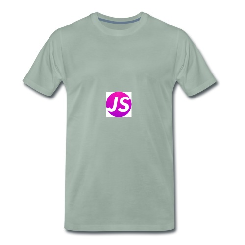 t shirt wit met logo - Mannen Premium T-shirt