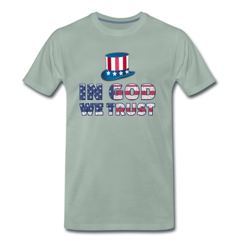 America-Slogan-In-God - Männer Premium T-Shirt