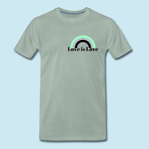 Love is Love ~ Agender design - Men's Premium T-Shirt