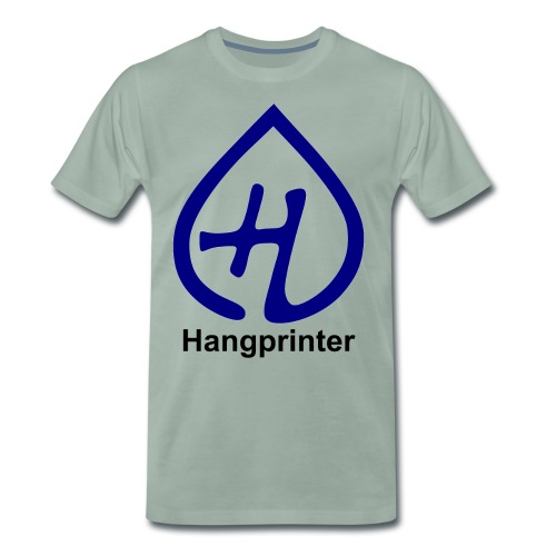Hangprinter logo and text - Premium-T-shirt herr
