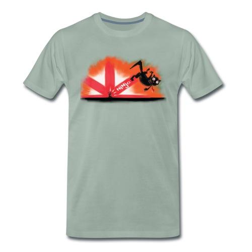 The Mysterious Ninja Mouse - Mannen Premium T-shirt