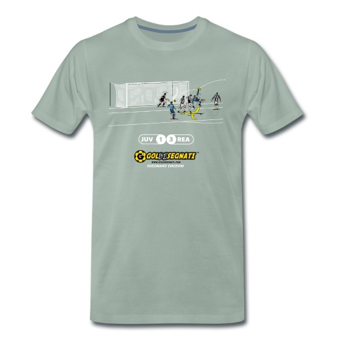 JUV-REA 1-3 Il Gol dell'asso portoghese - Maglietta Premium da uomo