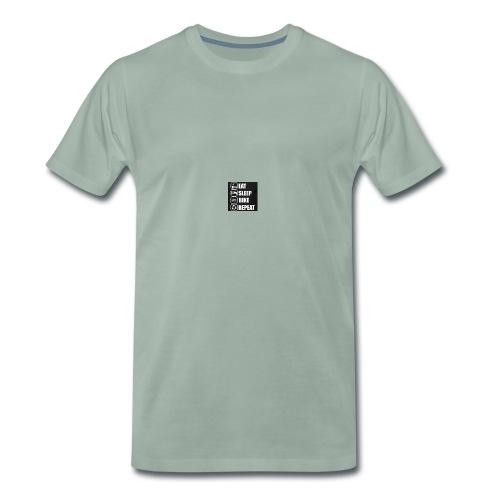 eat sleep bike repeat - T-shirt Premium Homme