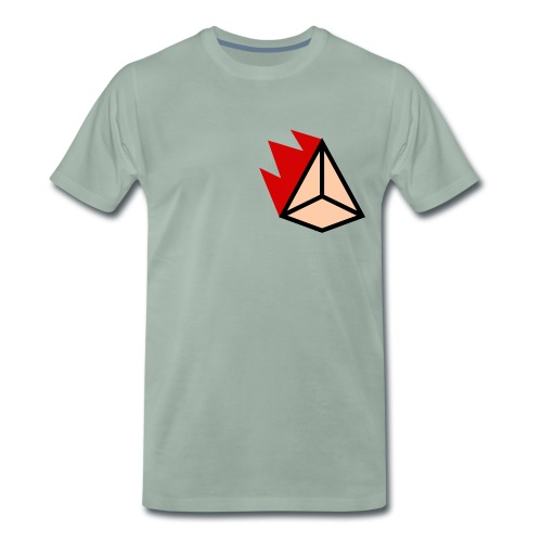 Burning Pyramid - Männer Premium T-Shirt