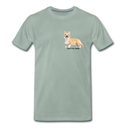Topi the Corgi - Black text - Men's Premium T-Shirt