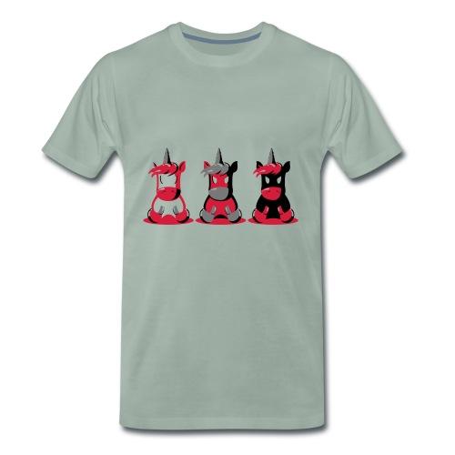 Angry Unicorn - Männer Premium T-Shirt