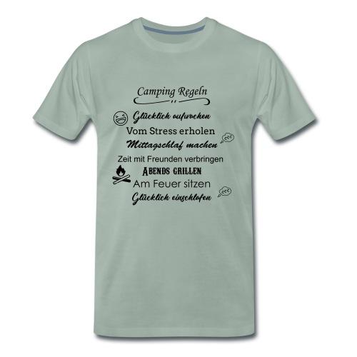 Camping Regeln - Männer Premium T-Shirt