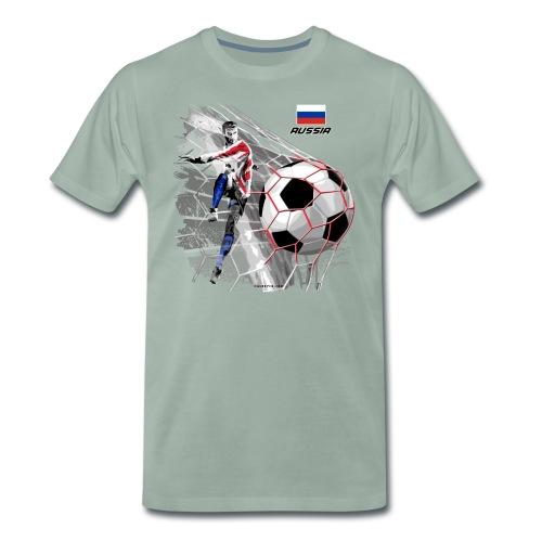 GP22F-04 RUSSIAN FOOTBALL TEXTILES AND GIFTS - Miesten premium t-paita