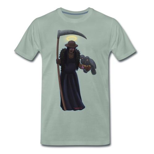 Malaria falciparum - schwarze Dame mit Sichel - Männer Premium T-Shirt