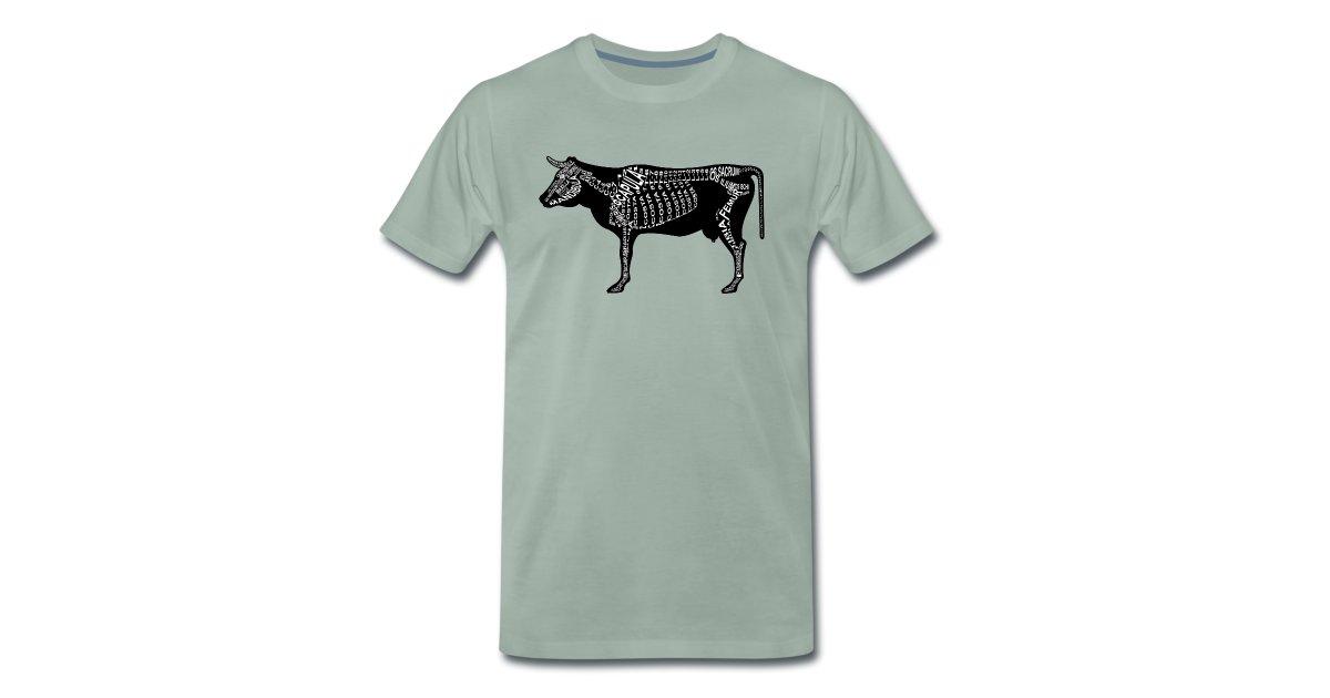 wort-anatomie | Rind-Skelett - Männer Premium T-Shirt