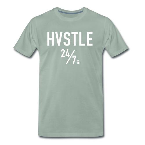 HVSTLE 24/7 - White Font - Männer Premium T-Shirt