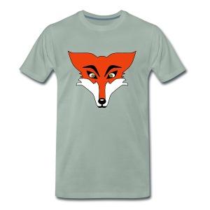 Renard Orange Cartoon - T-shirt Premium Homme