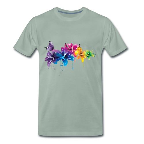 Flowers - Mannen Premium T-shirt
